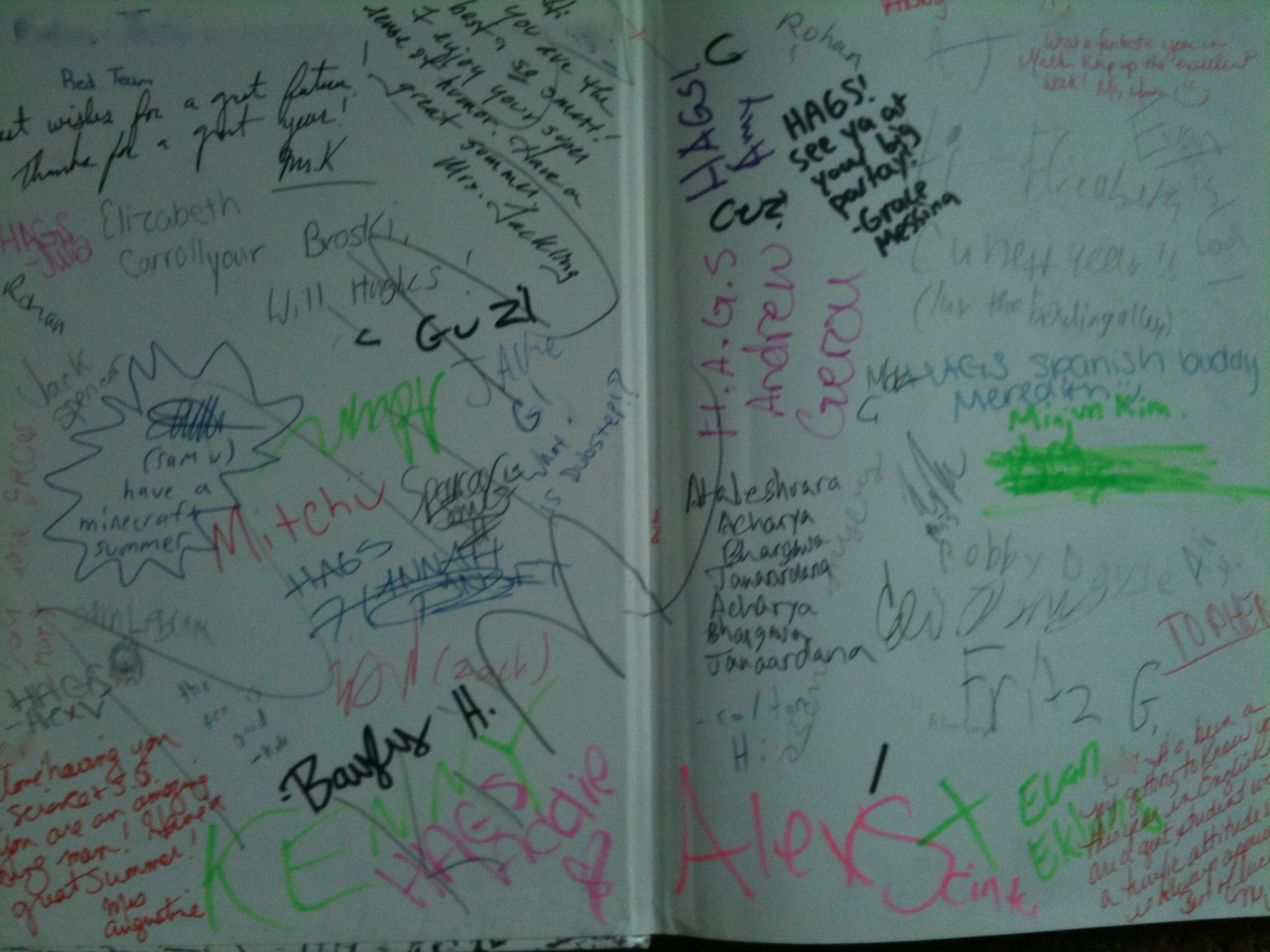 Ideas for Signing a Yearbook