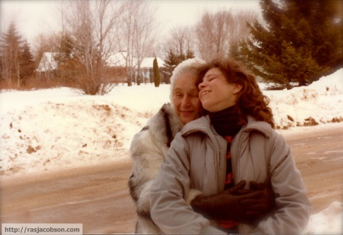 Grandma Muriel holds me during the winter of 1980.