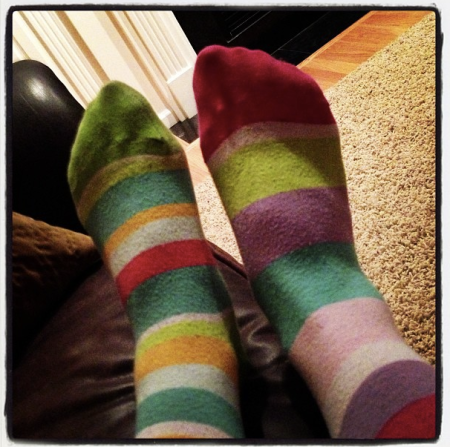 Because why wouldn't you want to see pictures of my socks?
