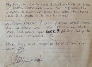 A sample of Pleun's penmanship.