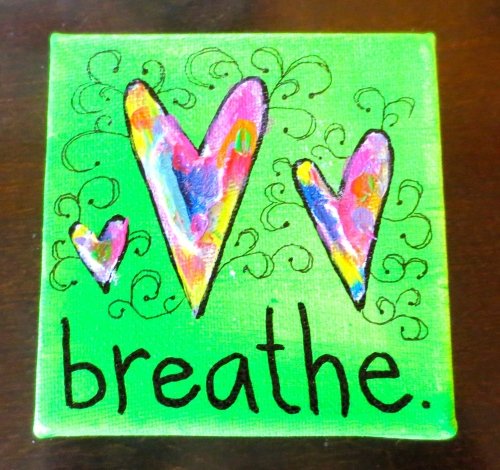 BREATHE is a 4x4 mini-canvas featuring acrylic paint & texturizing medium. Just $20. Interested? Type SOLD in the comments or email me at rasjacobson.ny@gmail.com